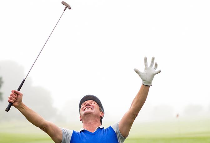Glücklicher Golfer konnte Handicap verbessern