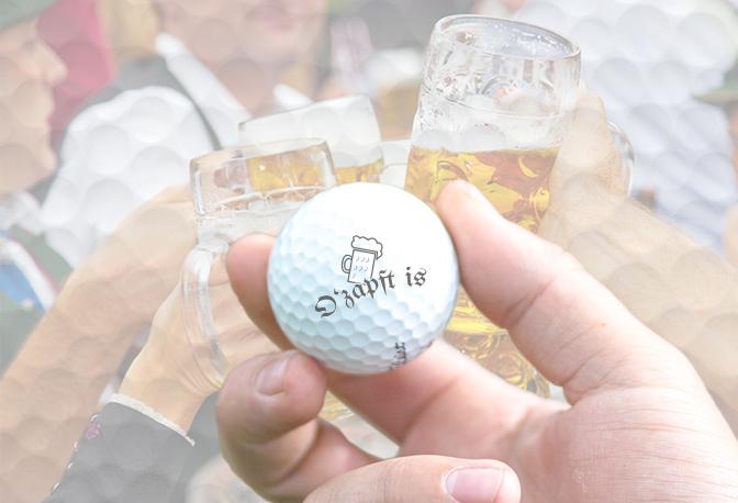 Ozapft is Golfball im Bierzelt
