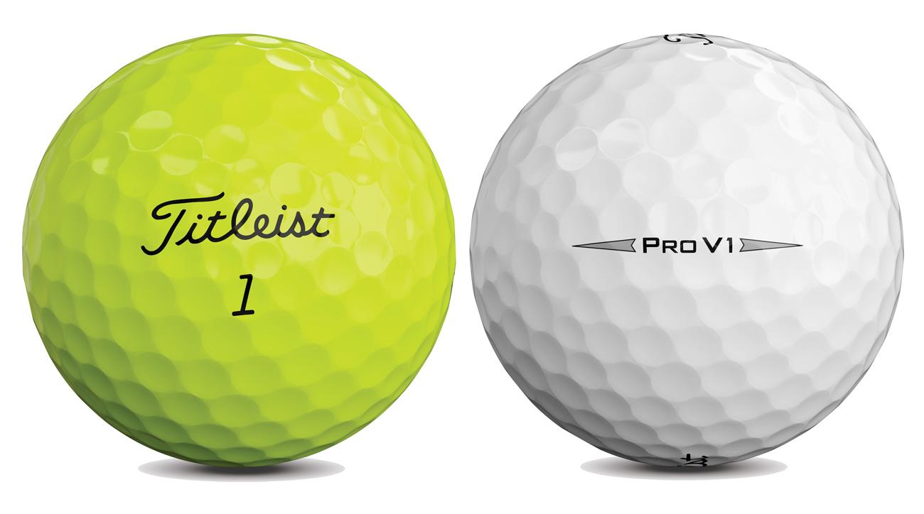 Titleist Pro V1 Golfbälle gelb und weiß