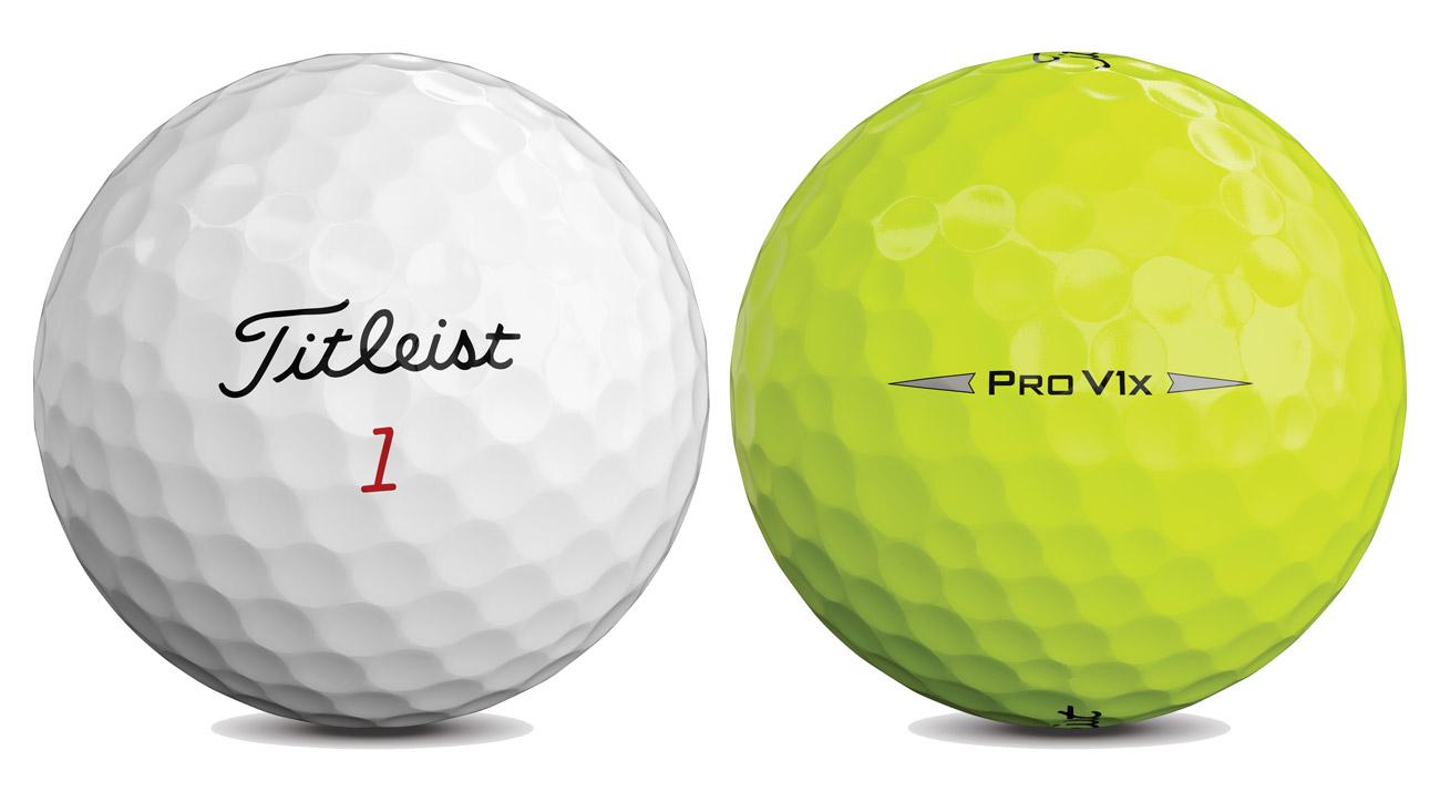 Titleist Pro V1x Golfbälle gelb und weiß