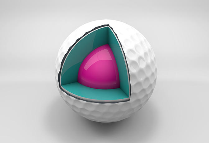 Multilayer-Golfball
