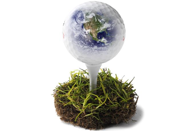 umweltfreundlicher Golfball