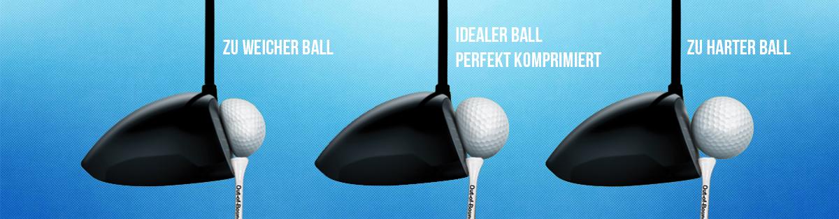 Komprimierung eines Golfballs