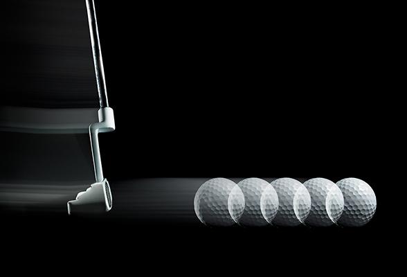 Vart är golfbollen på väg?