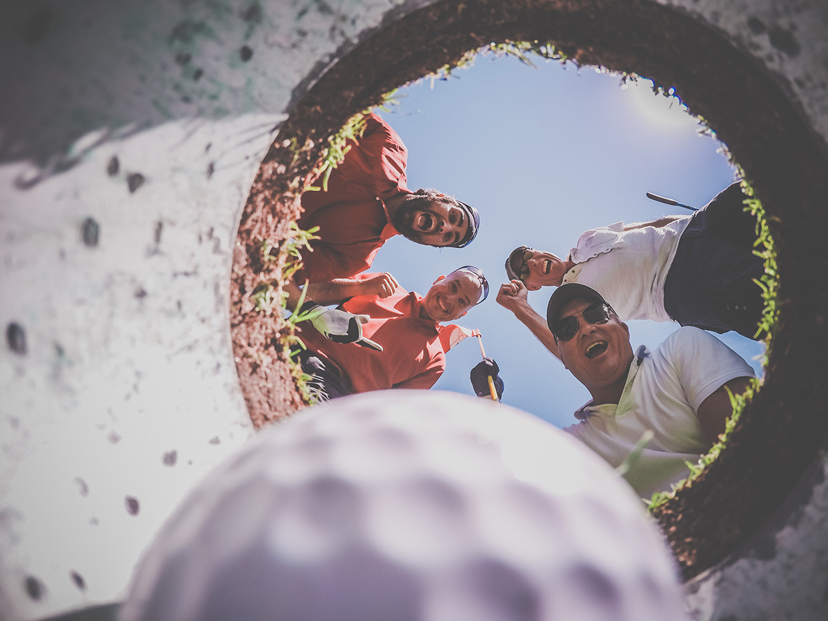 Glada golfare