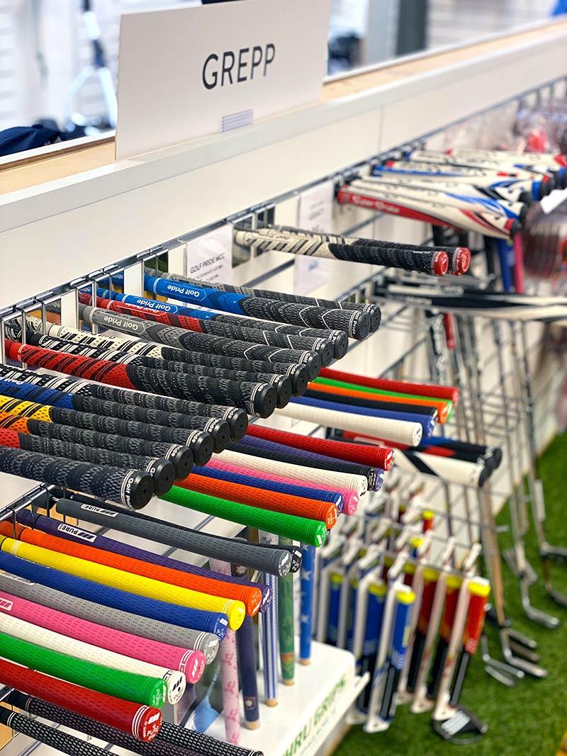 Golfgrepp i shoppen