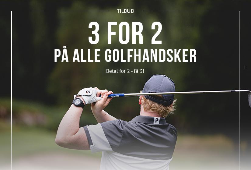 3 for 2 på alle golfhandsker. Betal for 2 - få 3!