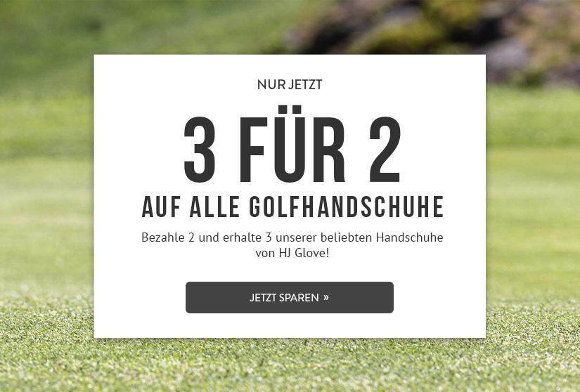 3 für 2 auf Golfhandschuhe