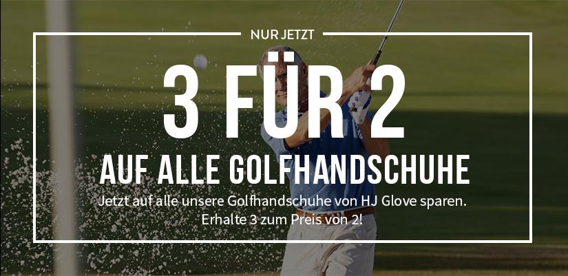 3 für 2 auf alle Golfhandschuhe von HJ Glove!