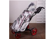 Genomskinligt regnskydd för golfbag