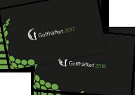 Golfhäftet 2017 samt 2018 på köpet