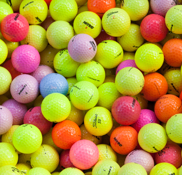 Färgade Golfbollar Mix