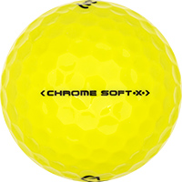 Golfboll av modellen Callaway Chrome Soft X Gula