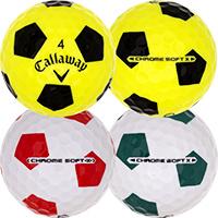 Golfboll av modellen Callaway Chrome Soft X Truvis