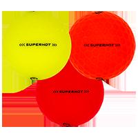 Golfboll av modellen Callaway Superhot Bold Matta