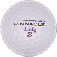 Golfboll av modellen Pinnacle Lady Lila