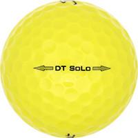 Golfboll av modellen Titleist DT SoLo Gula
