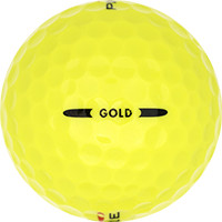 Golfboll av modellen Pinnacle Gold Gula