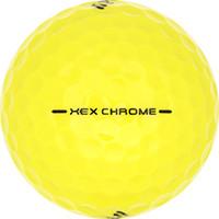 Golfboll av modellen Callaway HEX Chrome Gula