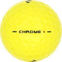 Golfboll av modellen Callaway Chrome + Gul