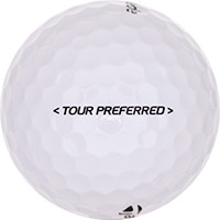 Golfboll av modellen TaylorMade Tour Preferred