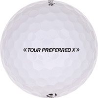 Golfboll av modellen TaylorMade Tour Preferred X