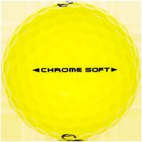 Golfboll av modellen Callaway Chrome Soft Gul
