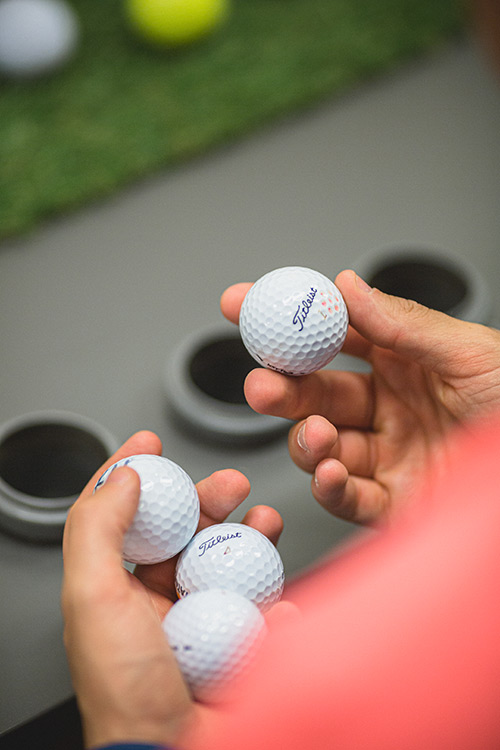Zu klassifizierende Golfbälle
