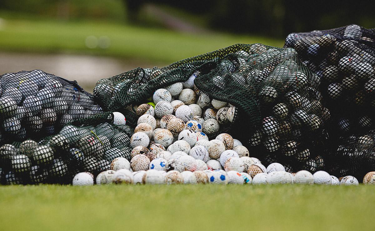 Upplockade golfbollar