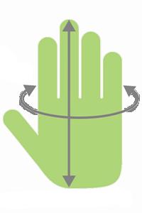 hand med pilar