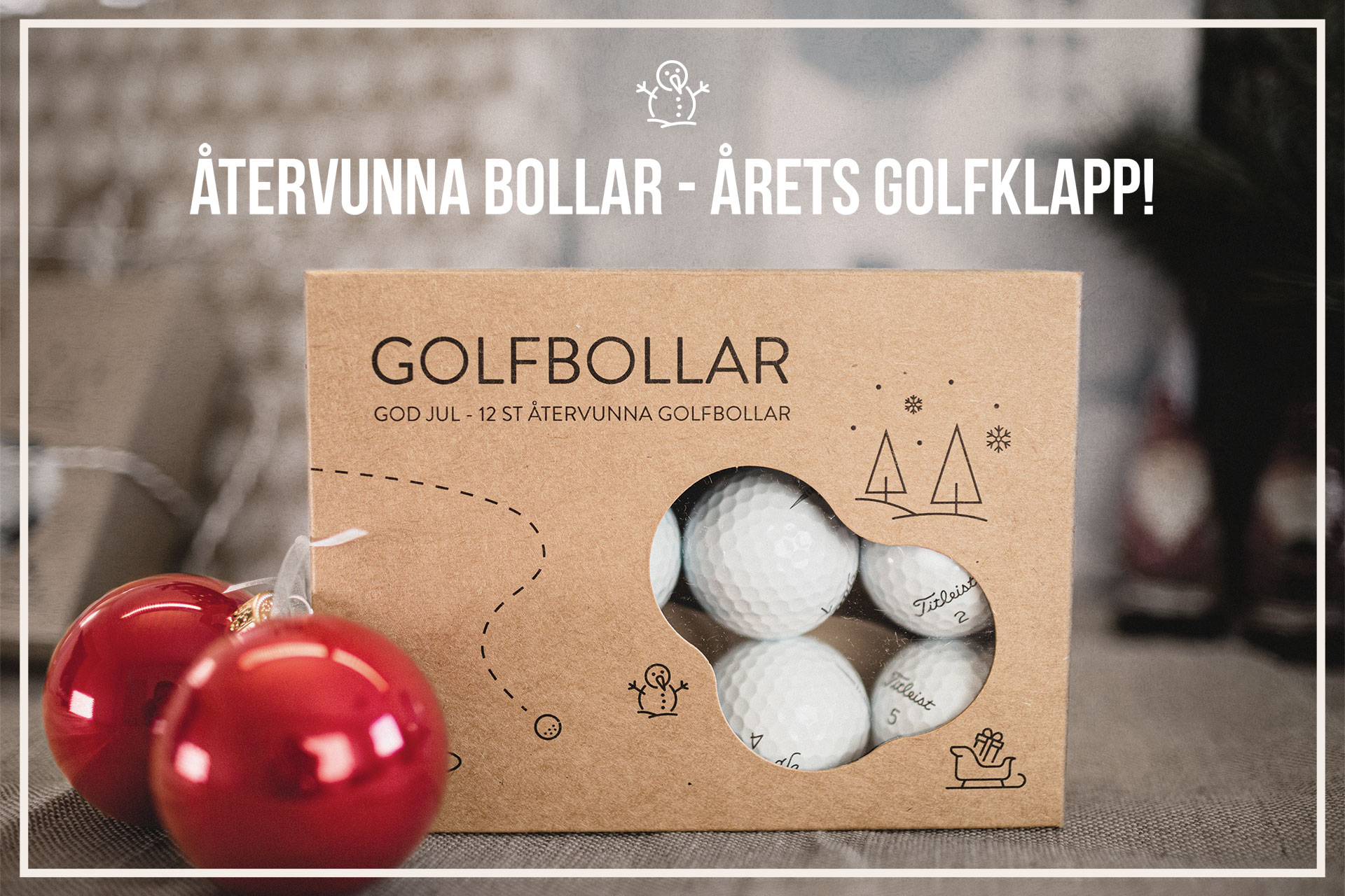 Återvunna golfbollar som julklapp till golfare