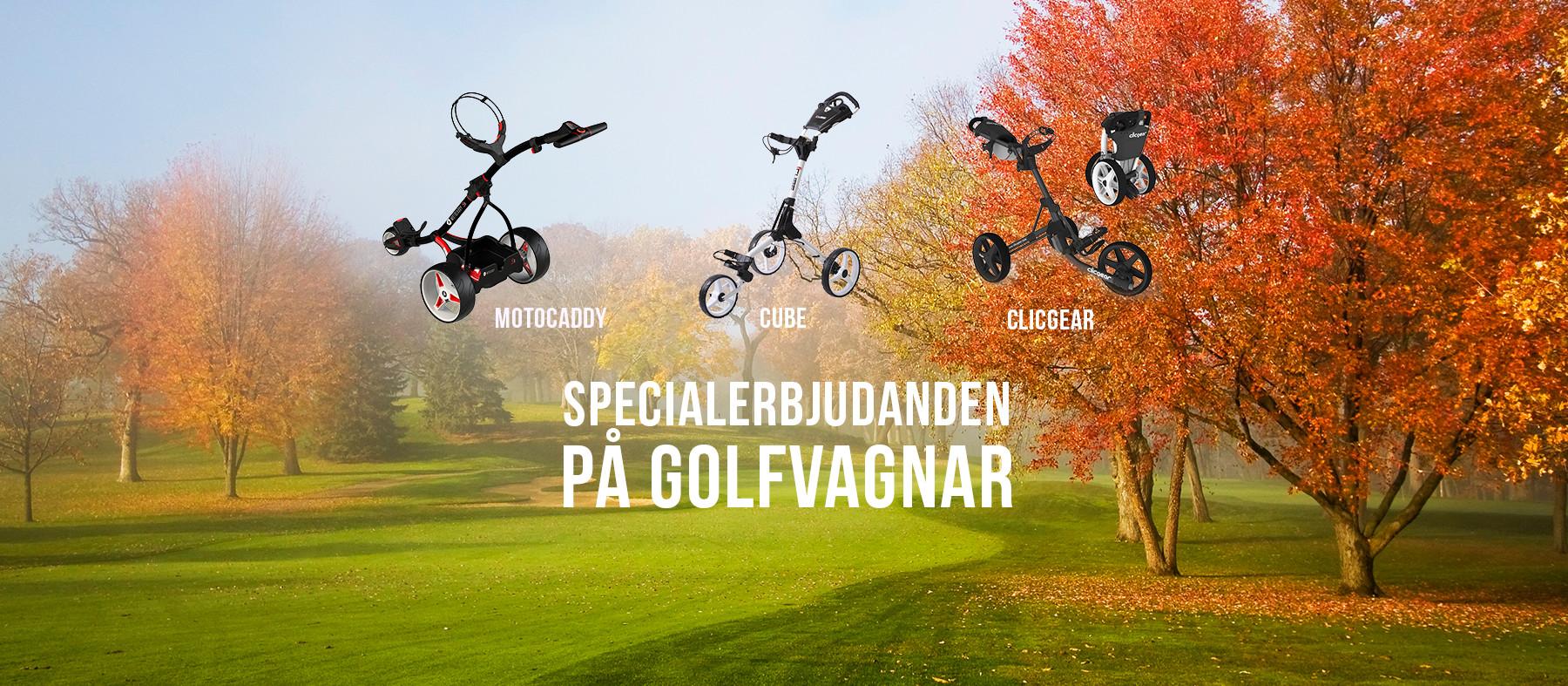 Specialerbjudande på golfvagnar